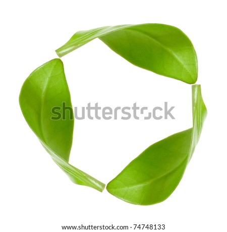 eco green energy recycling  isolated on white - stock photo