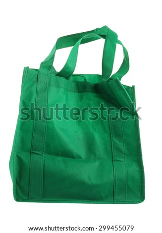 Eco Green Shopping Bag on White Background