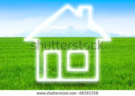 Eco Home - stock photo