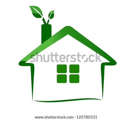 eco home - green ecology - stock photo