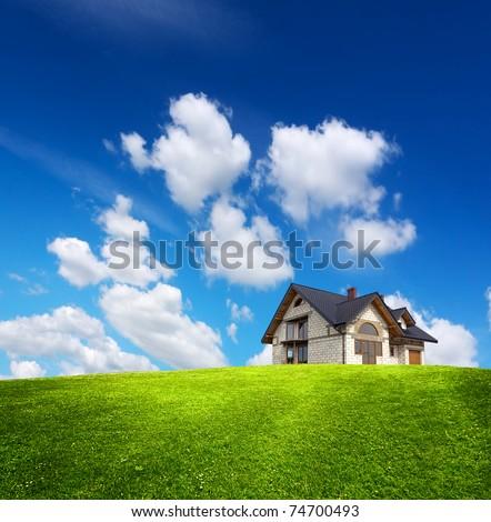 Eco House - stock photo