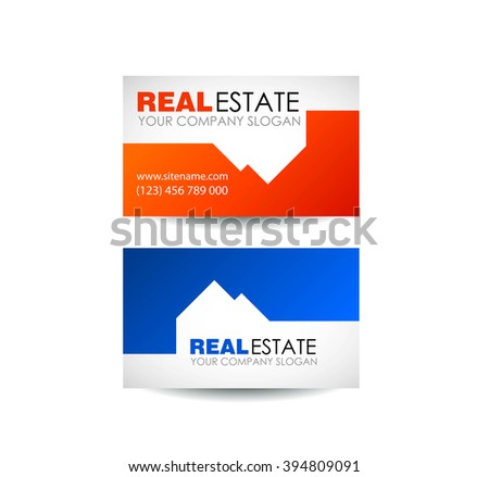 Eco house and real estate logo template. Home, housing, ecological materials, safe environmental. Real estate logo design