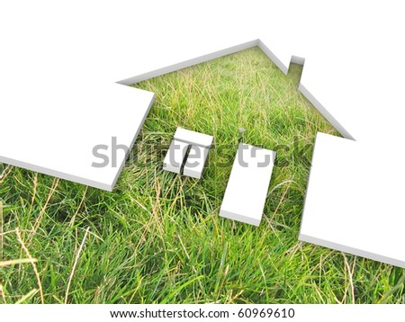 eco house metaphor - stock photo