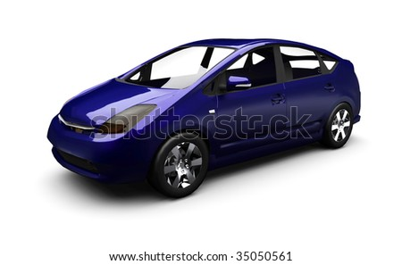 Eco Hybrid Car - stock photo