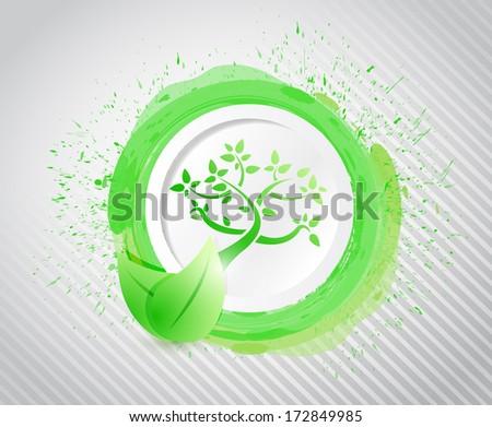 eco ink illustration design over a white background - stock photo