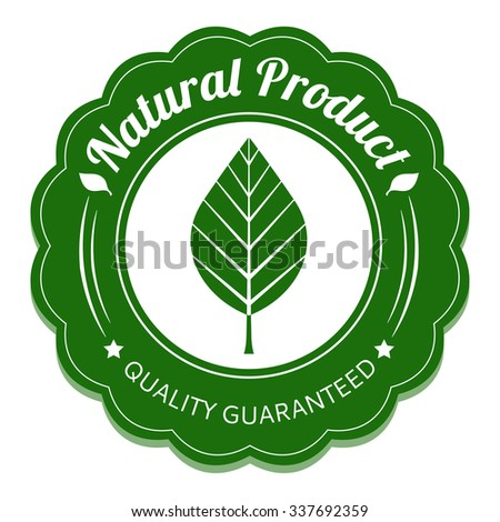 Eco label. Natural product tag.