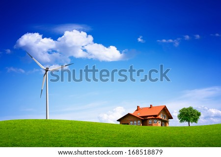 Eco Landscape - stock photo