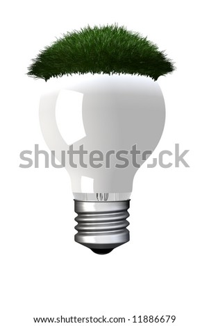 Eco light bulb - stock photo