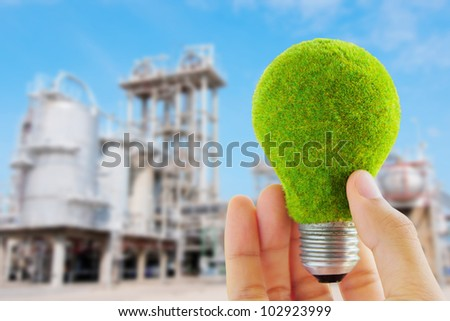 eco light bulb concept - stock photo