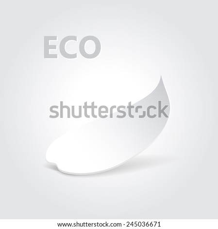 Eco origami leaf concept design.   illustration - stock photo