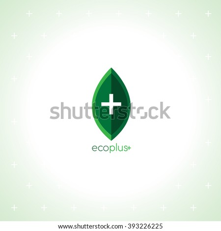 ECO PLUS Logo - stock photo