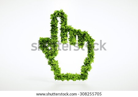Eco pointer sign with included clipping path - stock photo