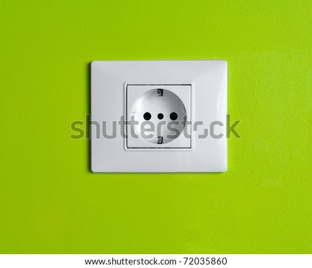 Eco power/Green consumption - stock photo
