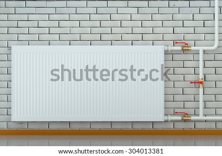 eco radiator in a room isolated on white background - stock photo