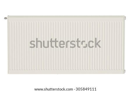 Eco Radiator isolated on white background - stock photo