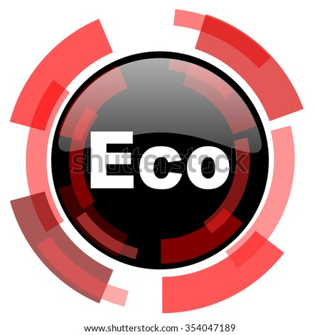 eco red modern web icon