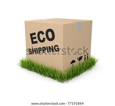 Eco shipping - stock photo