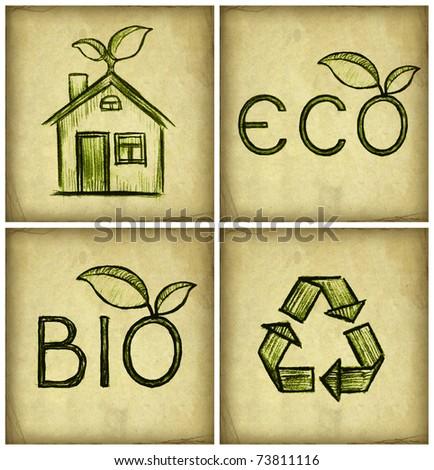Eco symbol - stock photo
