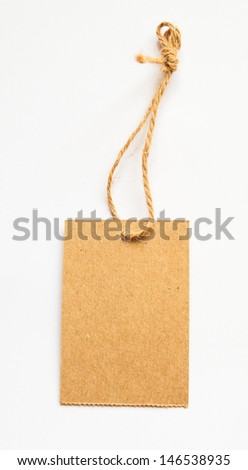 Eco tags isolated on white background - stock photo