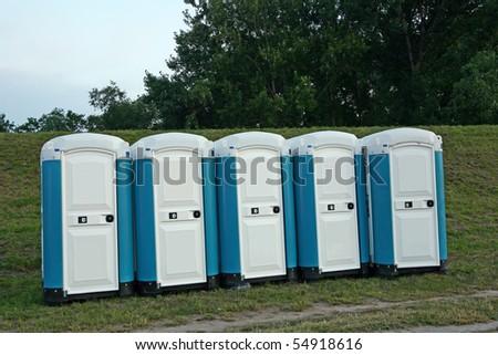 Eco toilet - stock photo
