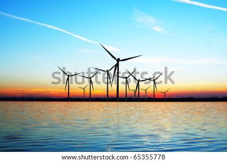 Eco Wind Power - stock photo