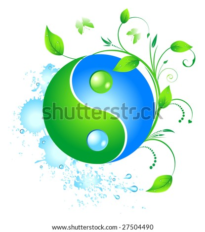 Eco yinyang. Raster version