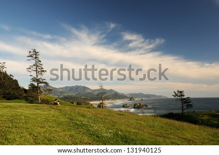 Ecola State Park in summer