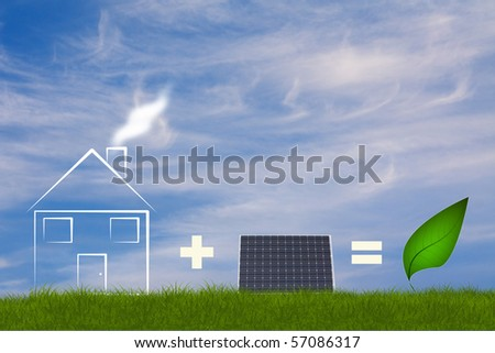 Ecologic concept for green energie - stock photo