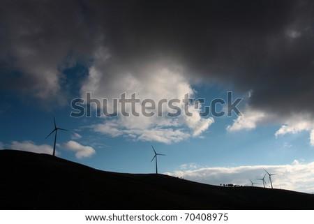 ecologic planet sunset - stock photo