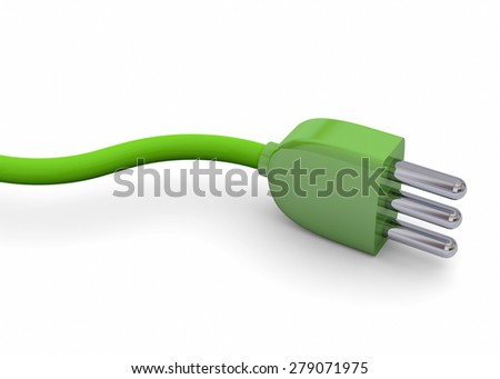 Ecologic Plug - 3D - stock photo