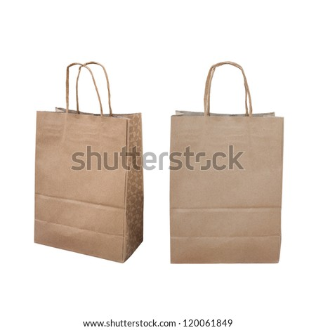 Ecological brown paper recycling bag