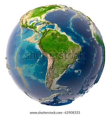 Ecological catastrophe of the Earth - shallowing of the oceans and seas - stock photo