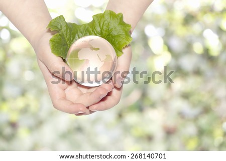 Ecological concept - stock photo