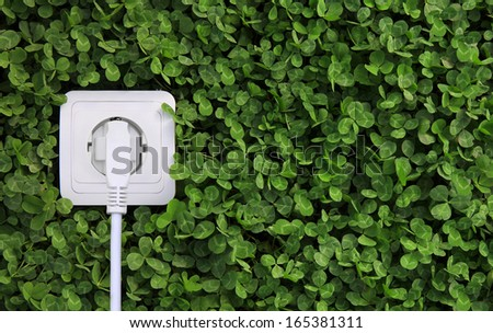 ecological concept, symbolizing renewable energy, bio energy - stock photo