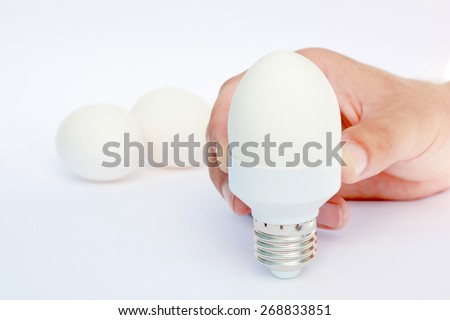 ecological concept symbolizing the unity of nature and technology  - stock photo