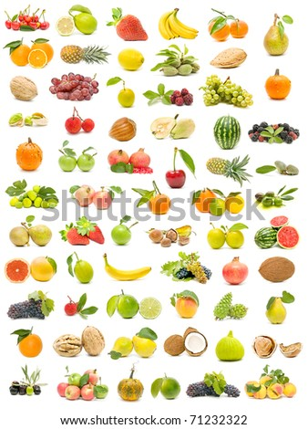 ecological fruit collection - stock photo