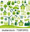 ecological icons set - stock vector