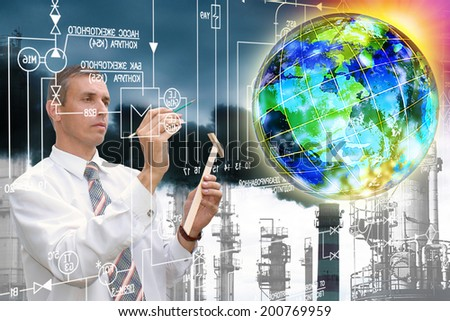 Ecological Industrial Technology - stock photo