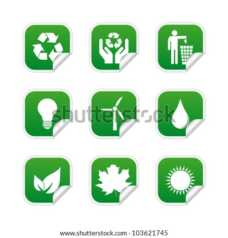 Ecological labels. Vector available.