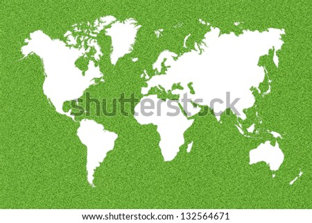 Flight routes vector eps 10 stock vector 292873595 shutterstock ecological map of the world in green grass gumiabroncs Gallery