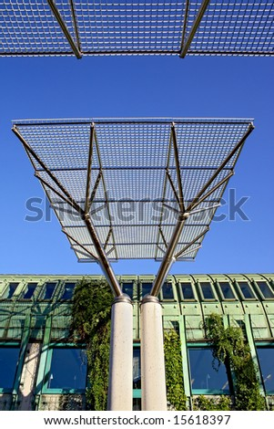 Ecological modern building of library in Warsaw. Poland. - stock photo