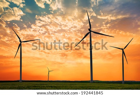 ecological power plant - stock photo