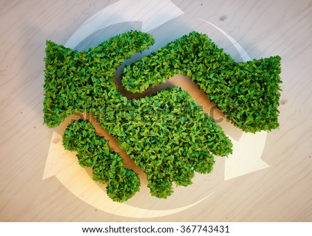 Ecology agreement concept - stock photo