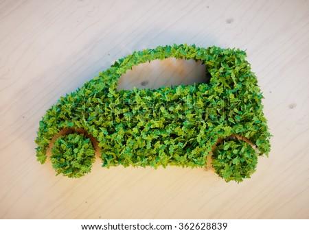 Ecology car concept - stock photo