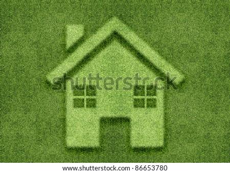 ecology concept, Green home green world. - stock photo