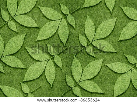 ecology concept, Green leaves created from grassland. - stock photo