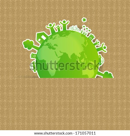 Ecology concept you can use on Earth Day - stock photo