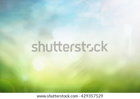 Ecology design. Bokeh View Soft Grass Art Rural Farm Land Light Fresh Flora Place Color Bright CSR Peace Season White Sunlight Earth Branch Crop Soil Seed Blurry Line Flare Circle Vibrant Recycle ROI