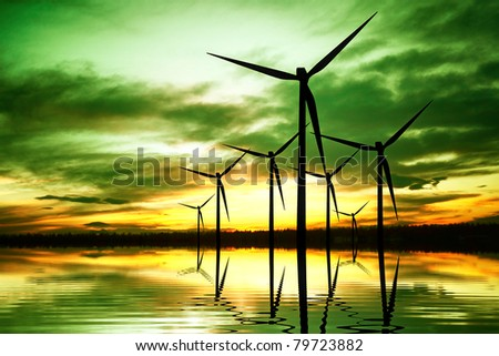 Ecology Energy Inventions - stock photo