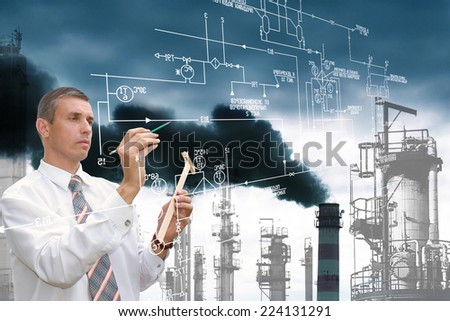 Ecology.Engineering designing.Healthy and clean climate - stock photo